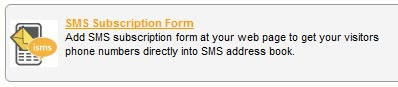 iSMS Subscription Form