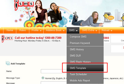 isms malaysia online sms marketing end user guide sms template