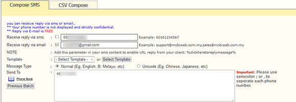 iSMS Reply URL Feature - High reliable sms delivery rate, SMS