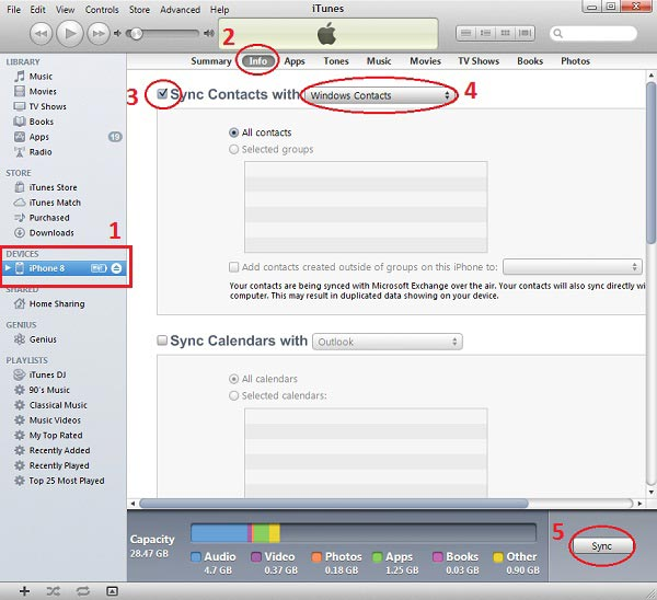How to Extract iPhone Contacts to CSV File using iTunes | Export iPhone  contacts to Bulk SMS Malaysia Address Book