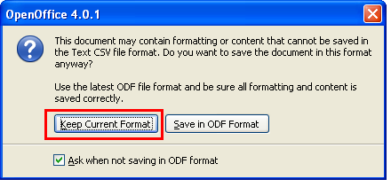 how to create csv file in openoffice