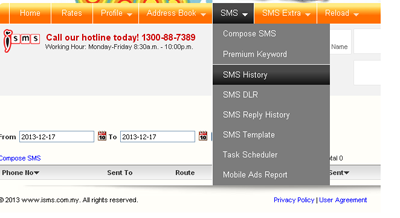 iSMS Malaysia - Online SMS Marketing End User Guide Generate SMS